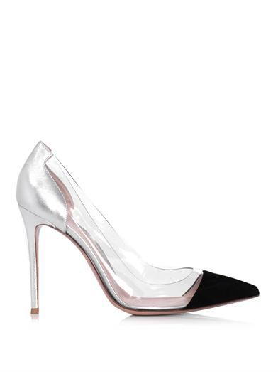 Gianvito Rossi Suede, leather and PVC pumps