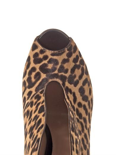Gianvito Rossi Leopard calf-hair open-toe ankle boots