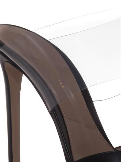 Gianvito Rossi Leather and PVC mules