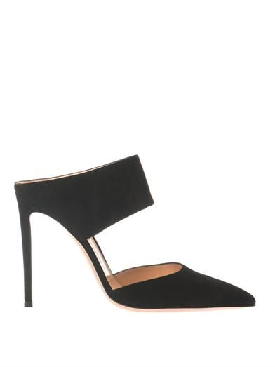 Gianvito Rossi Point-toe suede mules