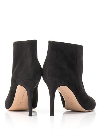 Gianvito Rossi Point-toe suede ankle boots