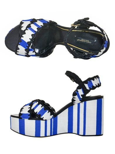 Dolce & Gabbana Stripe wedge sandals