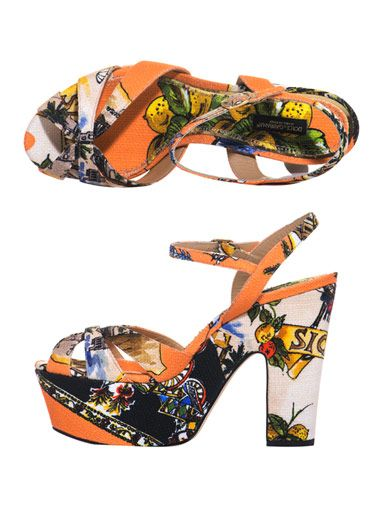 Dolce & Gabbana Siciliana print canvas sandals