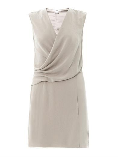 Helmut Lang Drape front sleeveless dress