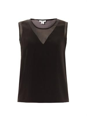 Contrast panel sleeveless top