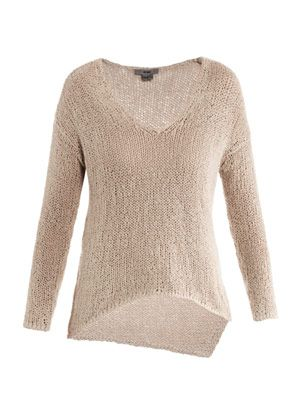 Looped cotton sweater