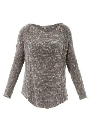 Boucle A-symmetric sweater