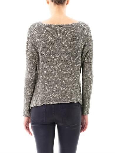 Helmut Lang Boucle A-symmetric sweater