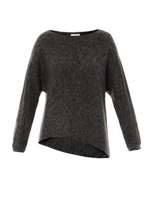 Flecked alpaca-blend sweater