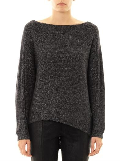 Helmut Lang Flecked alpaca-blend sweater