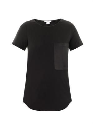 Silk pocket T-shirt