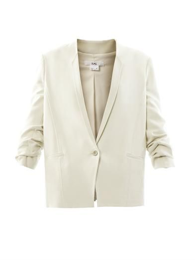 Helmut Lang Ruched-sleeve tailored jacket