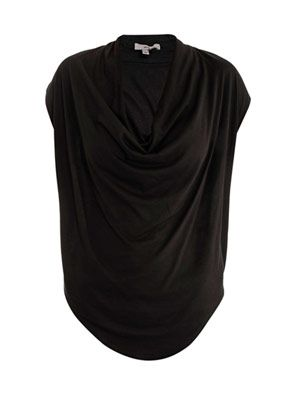 Cowl-neck T-shirt