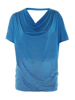 Open-back slub T-shirt