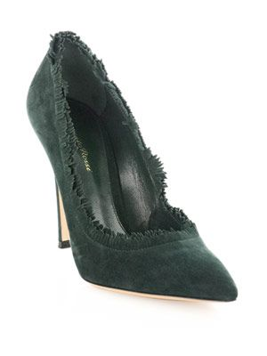 Suede fringe edge shoes
