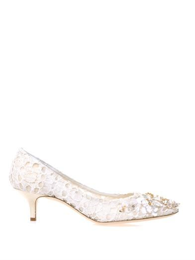Dolce & Gabbana Belucci flower-sequin lace pumps