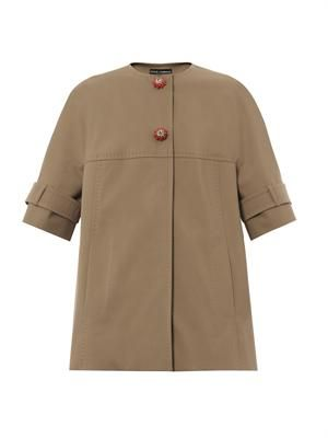 Short-sleeved cotton coat