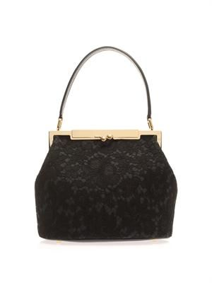 Sara lace top-handle bag