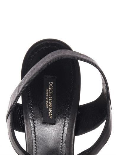 Dolce & Gabbana Inlaid wood leather sandals