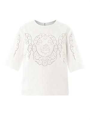 Laser-cut cotton top