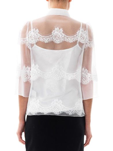 Dolce & Gabbana Lace and silk-organza blouse