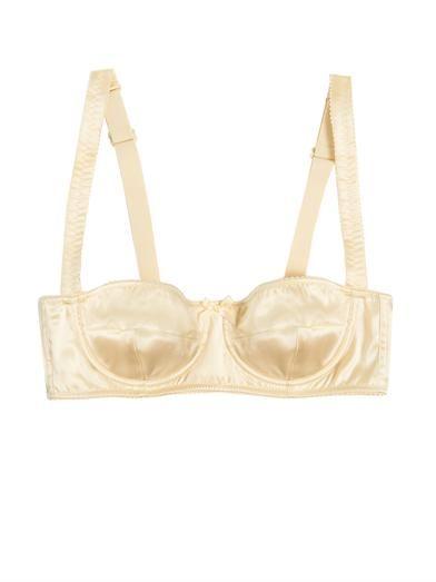 Dolce & Gabbana Silk-satin bra