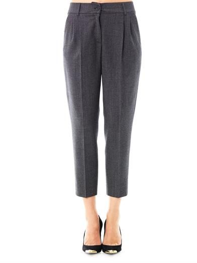 Dolce & Gabbana Micro-check wool trousers