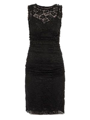 Lace-front sleeveless dress
