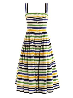 Multicolour stripe print dress