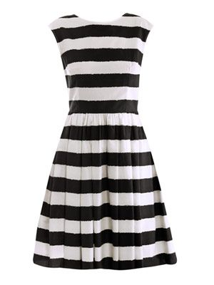 Wide stripe sun dress