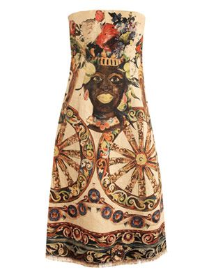 Maure printed linen dress