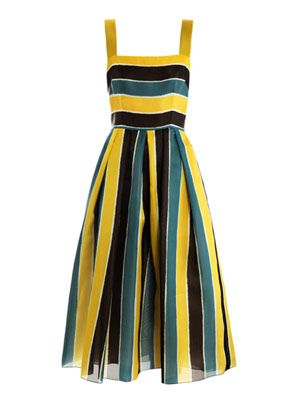 Organza stripe sun dress