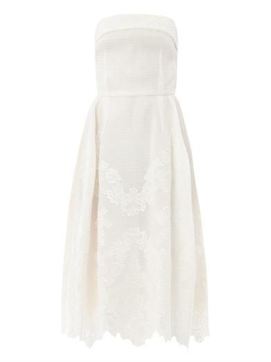 Dolce & Gabbana Embroidered organza strapless dress
