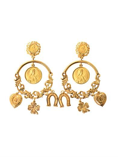 Dolce & Gabbana Charm hoop earrings