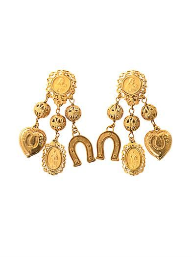 Dolce & Gabbana Multi-charm earrings