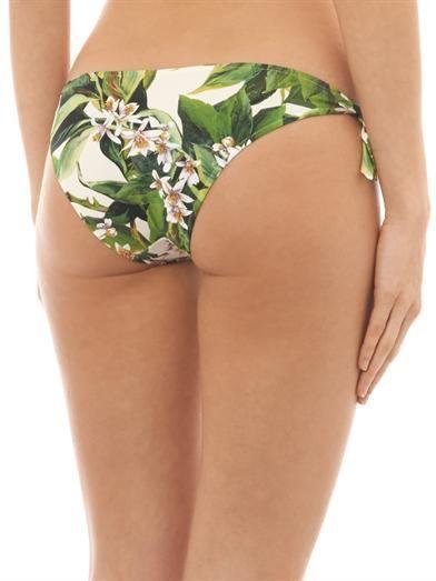 Dolce & Gabbana Lemon blossom-print bikini briefs