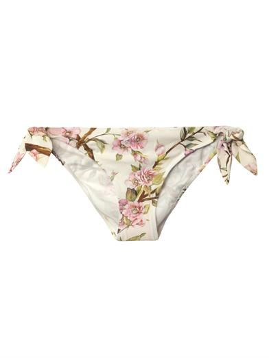 Dolce & Gabbana Wild Rose side-tie bikini briefs