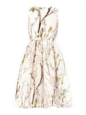 Almond blossom-print dress