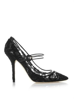Bellucci lace mary jane pumps