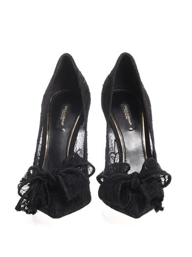 Dolce & Gabbana Bellucci lace bow pumps