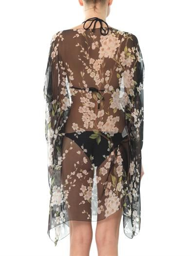 Dolce & Gabbana Cherry blossom-print silk kaftan