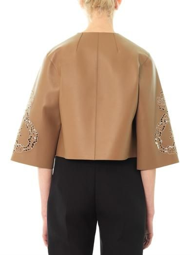 Dolce & Gabbana Laser-cut leather jacket