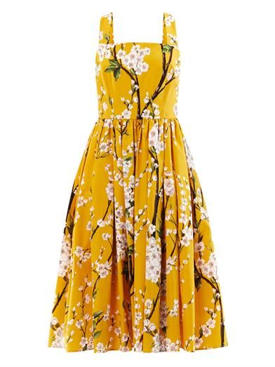 Dolce & Gabbana Almond blossom-print sun dress