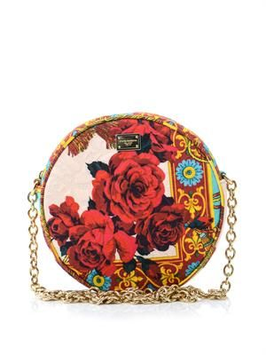 Glam floral brocade cross-body bag