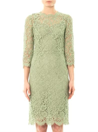 Dolce & Gabbana Three quarter-sleeved lace dress