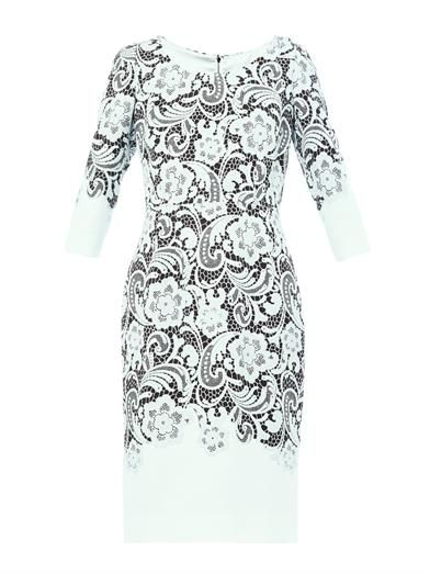 Dolce & Gabbana Tricotina lace-print fitted dress