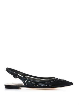 Bellucci slingback point-toe pumps