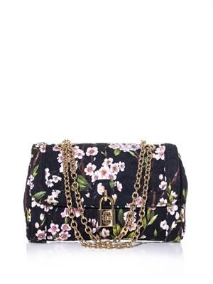 Floral brocade shoulder bag