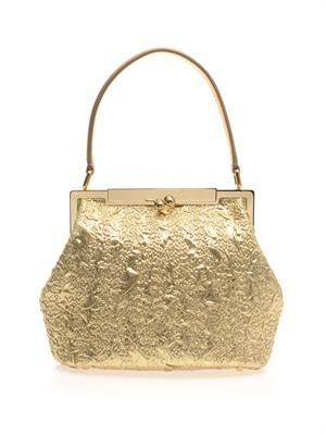 Sara brocade top-handle bag