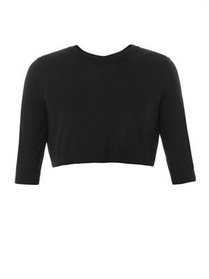 Cropped cashmere and silk-blend sweater